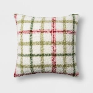 Threshold | Plaid Square Throw Pillow Red & Green